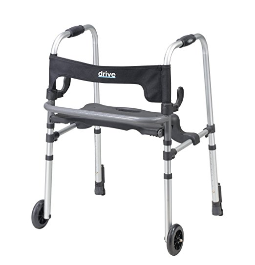 Andador Adulto Cinza Drive Medical Clever-Lite LS Rollator Walker