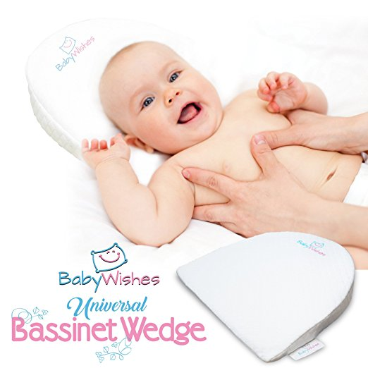 Baby Wishes Universal Bassinet Wedge for Better Baby Sleep Premium Breathable Cover, Waterproof Inner Cover, BPA Free2