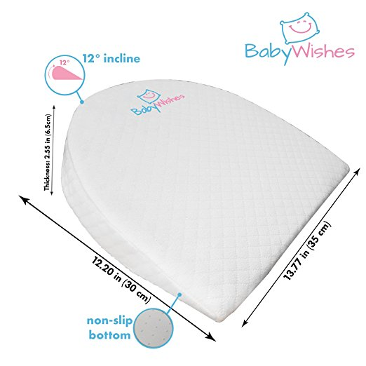 Baby Wishes Universal Bassinet Wedge for Better Baby Sleep Premium Breathable Cover, Waterproof Inner Cover, BPA Free3