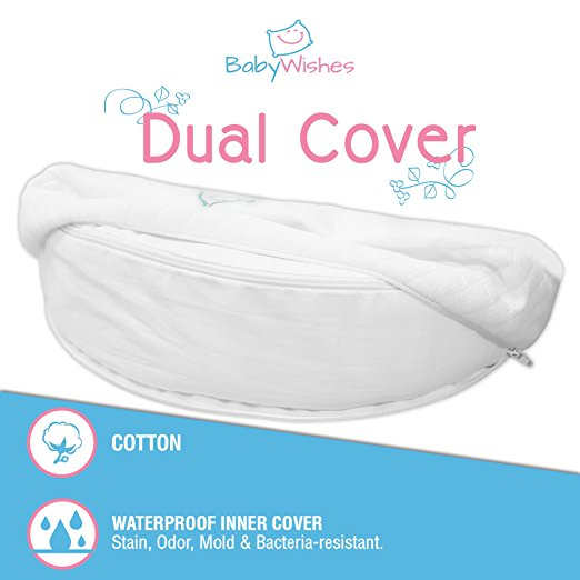 Baby Wishes Universal Bassinet Wedge for Better Baby Sleep Premium Breathable Cover, Waterproof Inner Cover, BPA Free4