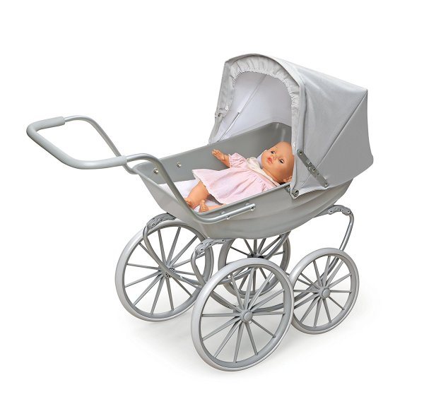 Badger Basket London Doll Pram ,fits American Girl dolls, Gray4