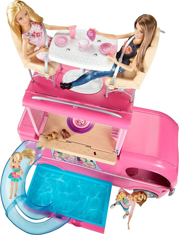Barbie Veículo de Acampamento Pop-Up Camper Vehicle4