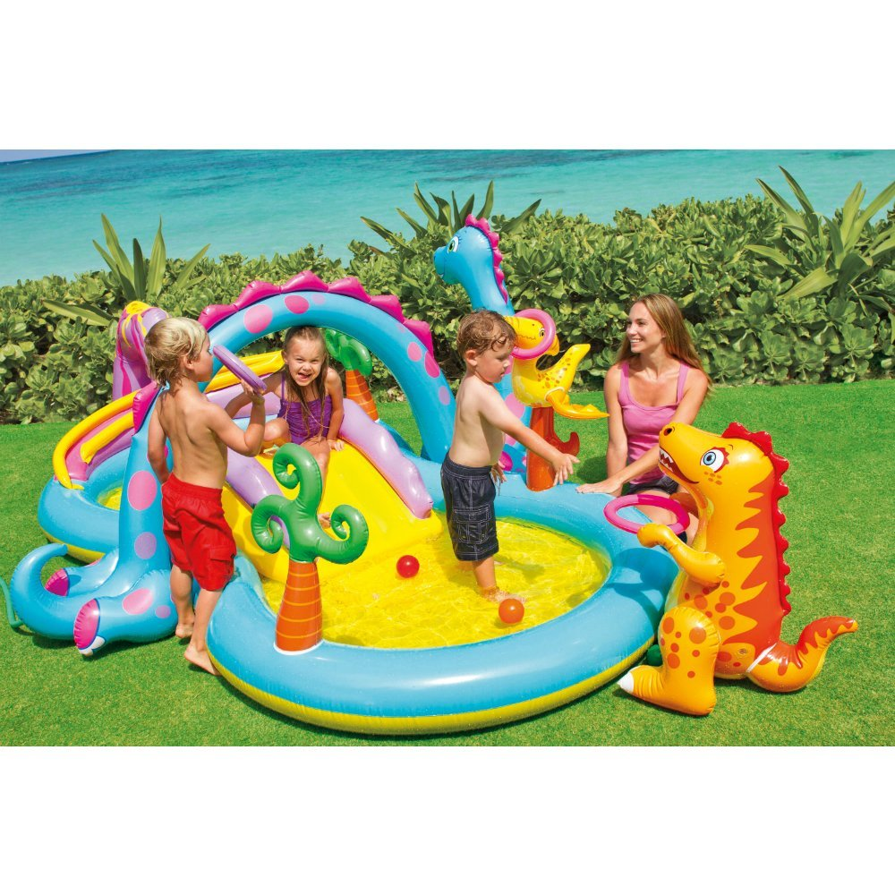 Boia Piscina Aquática Intex Dinoland Play Center Dinossauro 280 litros
