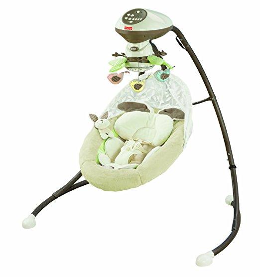 Cadeira Balanço Fisher Price Little Snugabunny Cradle Swing