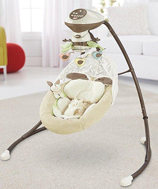 Cadeira Balanço Fisher Price Little Snugabunny Cradle Swing 3