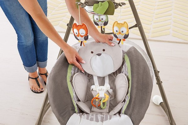 Cadeira Balanço Fisher Price My Little Snugabear Cradle Swing