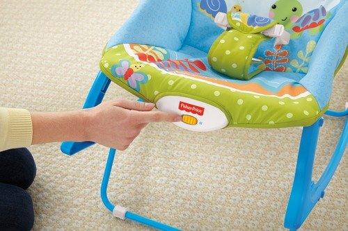Cadeira Balanço Minha Infância Fisher Price Green with Blue BGB00 4