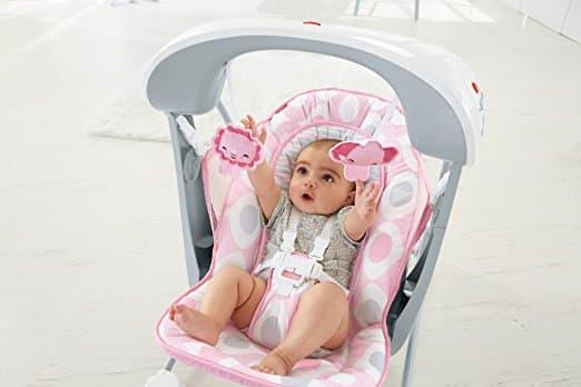 Cadeirinha de Balanço Fisher Price Deluxe Take Along Swing and Seat Pink