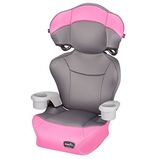 Cadeirinha de Carro Evenflo Big Kid AMP High Back Booster Car Seat, Pink Dove
