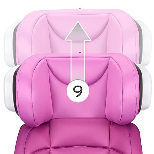 Cadeirinha de Carro Evenflo Spectrum 2-in-1 Poppy Pink 3