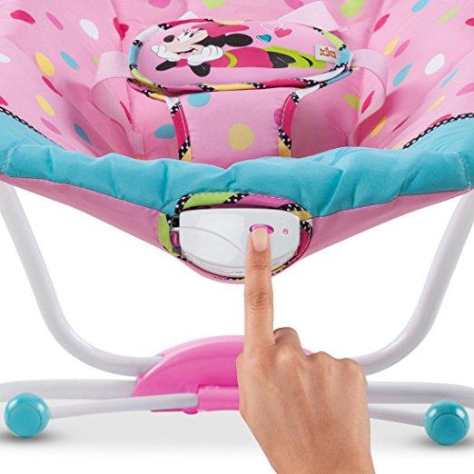 Cadeirinha de balanço Disney Baby To Big Kid Rocking Seat Minnie Peek A Boo 7