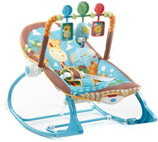 Cadeirinha de balanço Fisher-Price Infant to Toddler Rocker, Jungle Fun 3