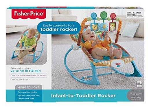 Cadeirinha de balanço Fisher-Price Infant to Toddler Rocker, Jungle Fun 5