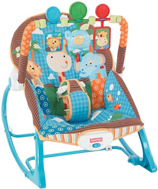 Cadeirinha de balanço Fisher-Price Infant to Toddler Rocker, Jungle Fun 6
