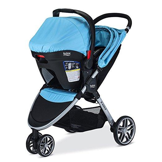 Carrinho Bebê e Conforto Britax 2017 B-agile 3/b-safe35 Cor Azul Cyan