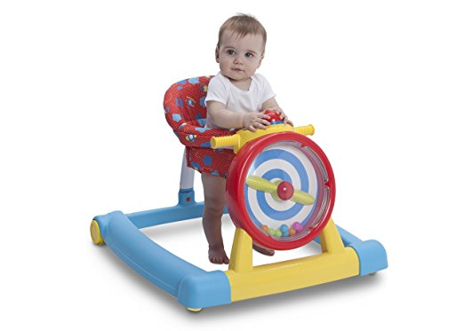 Children's 3-in-1 Convertible Lil' Sit, Stand, or Ride Interactive Airplane Activity Walker, Walk-Behind, and Ride On 3
