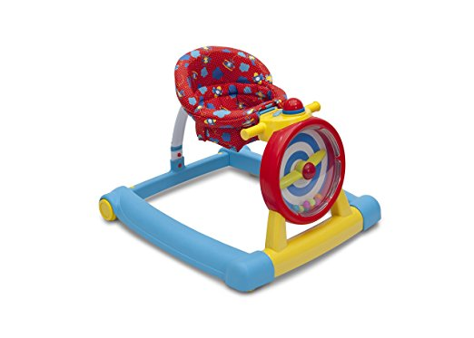 Children's 3-in-1 Convertible Lil' Sit, Stand, or Ride Interactive Airplane Activity Walker, Walk-Behind, and Ride On