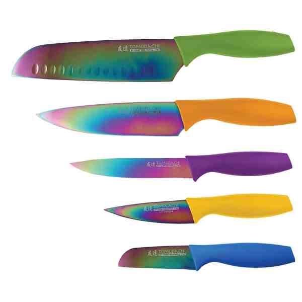 Conjunto de facas Hampton Forge Tomodachi 5-peças com protetor de lâmina HMC01E550S
