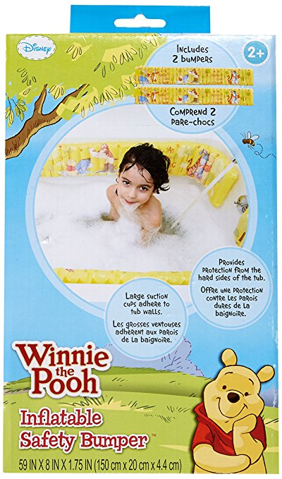 Disney Winnie the Pooh Inflatable Safety Bathtub Bumpers, Yellow 2