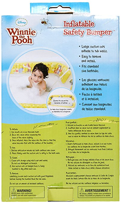 Disney Winnie the Pooh Inflatable Safety Bathtub Bumpers, Yellow 3