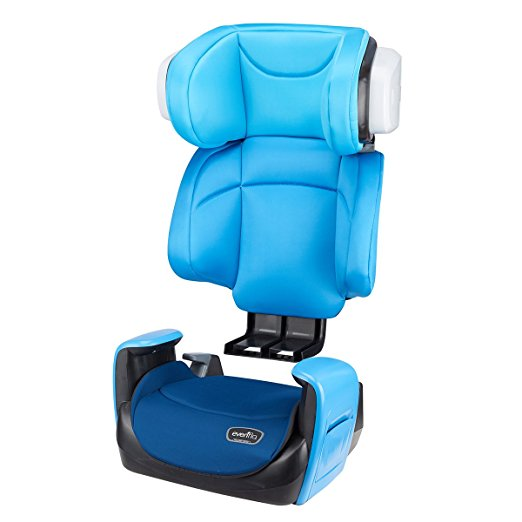 Evenflo Spectrum 2-in-1 Booster Car Seat, Bubbly Blue4