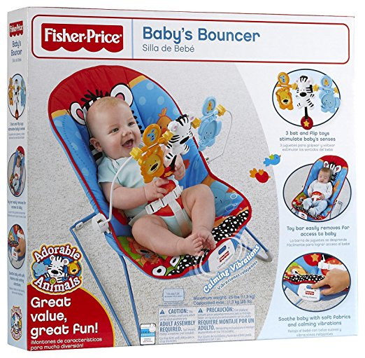 Fisher-Price Baby's Bouncer, Adorable Animals 6