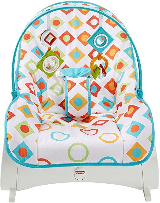 Fisher-Price Infant-to-Toddler Rocker, Geo Diamonds 3