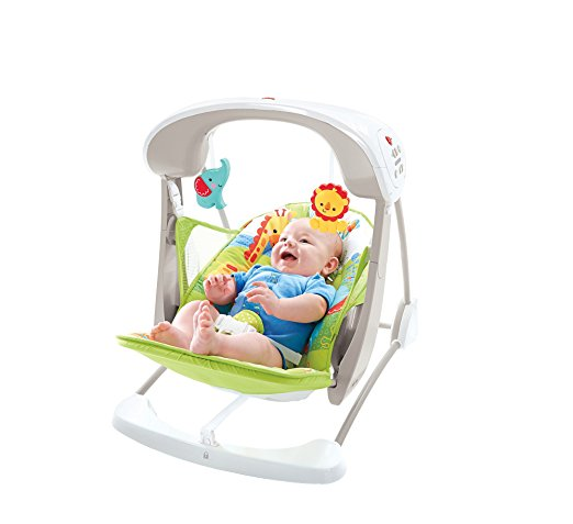 Fisher-Price Take-Along Swing and Seat, Rainforest Friends, One size 6