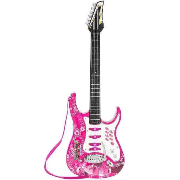 Guitarra Eletrica Infantil Rosa para Meninas Best Choice Kids Electric Guitar 4