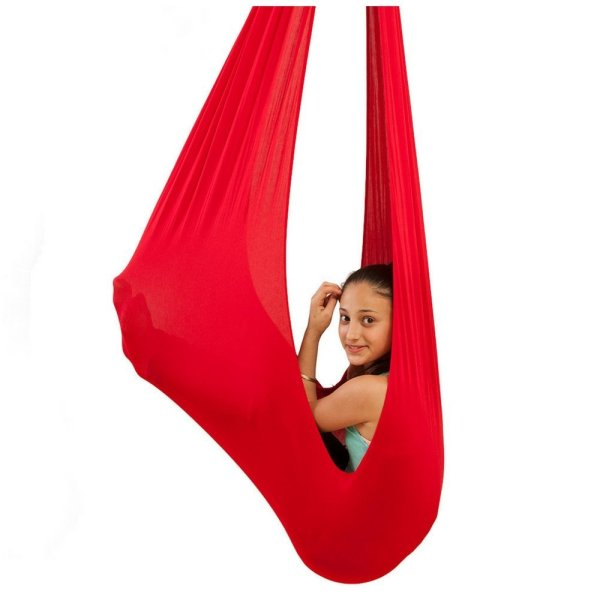 Indoor Swing for Kids by InYard Great for Sensory Integration (Up to 77lbs, Red)