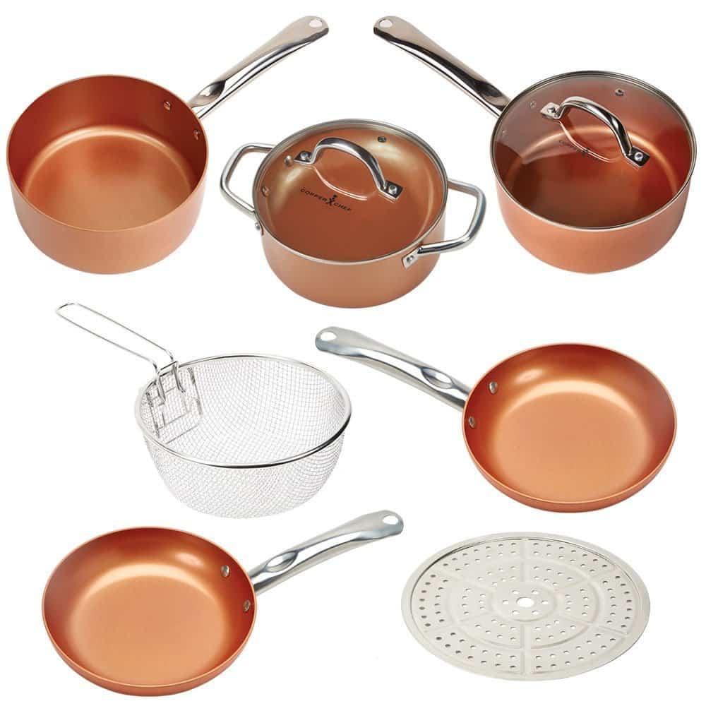 Jogo de Panela Redonda Copper Chef 5 Peças Round Set