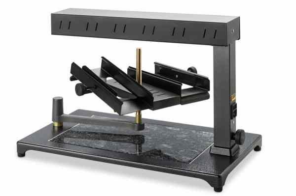 Máquina de Derreter Queijo Raclette Comercial Uma ou Duas rodas de 1_2 Queijo