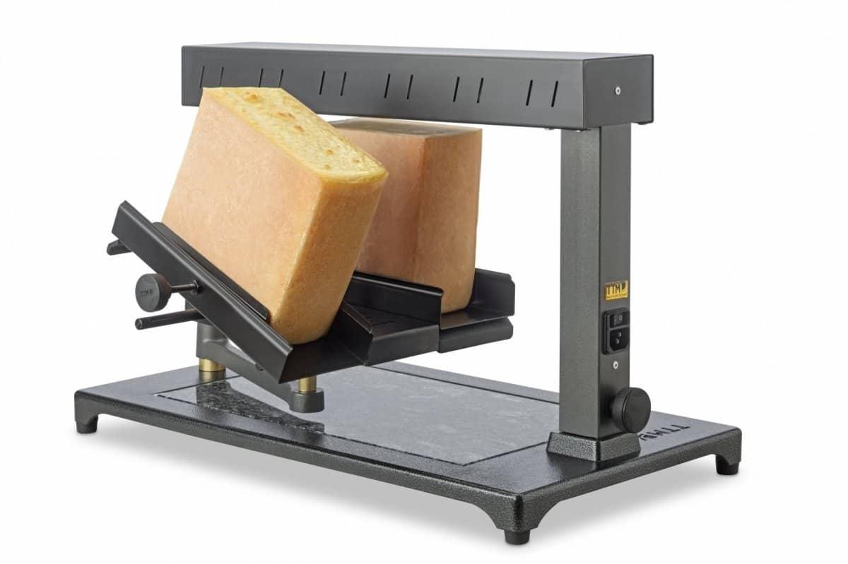 Máquina de Derreter Queijo Raclette Comercial Uma ou Duas rodas de 1_2 Queijo3