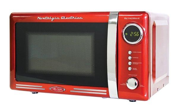 Microondas Nostalgia Eletrics Vintage Retrô cor Vermelha Anos 60 MODELO 2016 RMO400RED