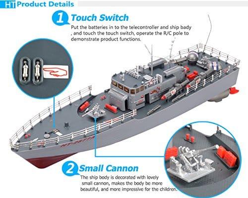 Navio De Guerra Com Mísseis De Controle Remoto De Rádio