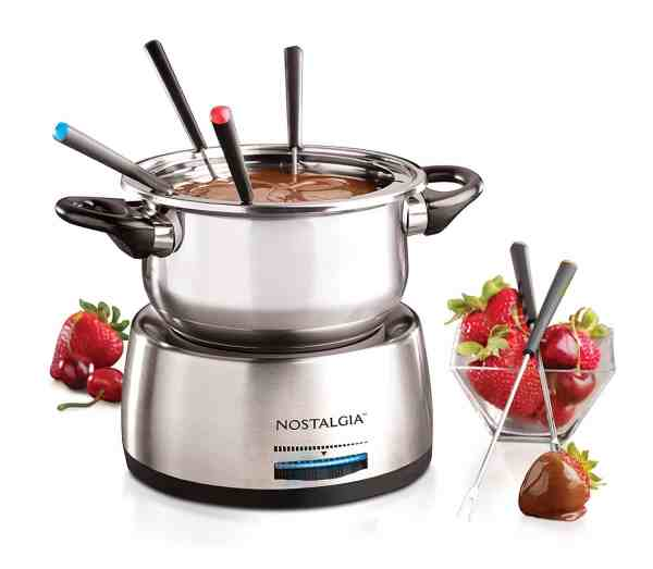 Nostalgia FPS200 6-Cup Stainless Steel Electric Fondue Pot2