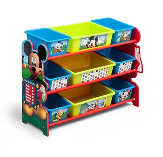 Organizador de Brinquedo Disney Mickey Mouse com 9 bin
