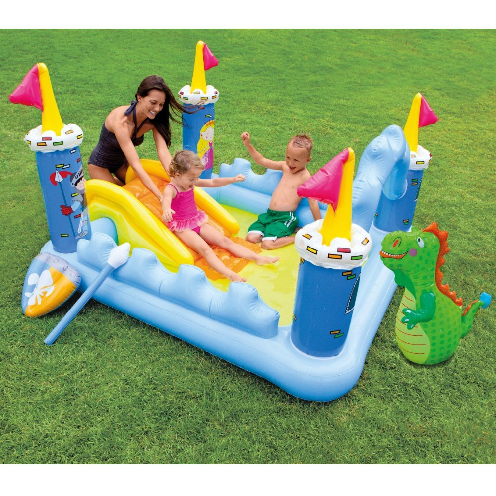 "Piscina Intex Fantasia Castelo Inflavel Play Center, 73"" X 60"" X 42"" 178 litros"