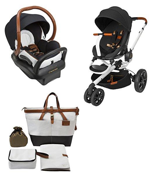 Quinny Rachel Zoe Jet Set Moodd Stroller Travel System with Rachel Zoe Diaper Bag
