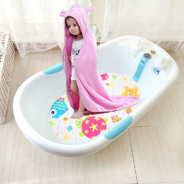 Topsky Baby Non-slip Bath Mat Anti-Bacterial Bathtub Mat5