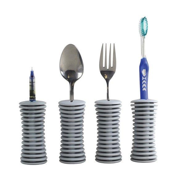 Utensílios que facilitam as refeições de pessoas com necessidades especiais Universal Built-up handle (4) unidades