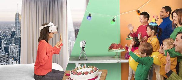 Câmera Mirage da Lenovo com Daydream, Câmera e Foto Pronta para VR, Integração com o YouTube e Google Fotos, Compatibilidade com Smartphone, 5