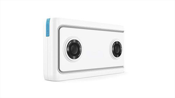 Câmera Mirage da Lenovo com Daydream, Câmera e Foto Pronta para VR, Integração com o YouTube e Google Fotos, Compatibilidade com Smartphone,