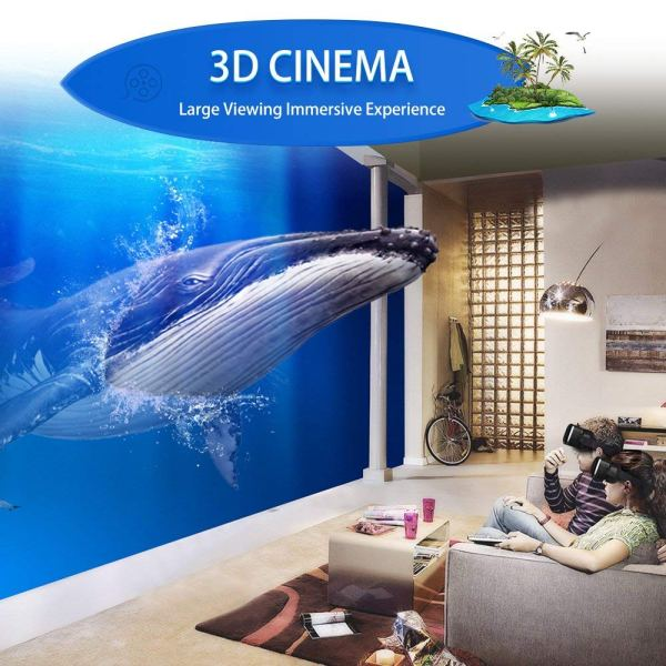 Eleovo 3D VR Headset with Remote Controller Large Viewing Experience Virtual Reality Glasses w4