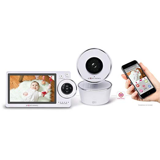 Project Nursery High-Definition Dual Connect Baby Monitor System with WiFi Viewing and Dedicated Parent Unit