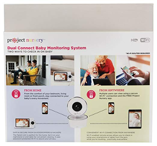 Project Nursery High-Definition Dual Connect Baby Monitor System with WiFi Viewing and Dedicated Parent Unit2