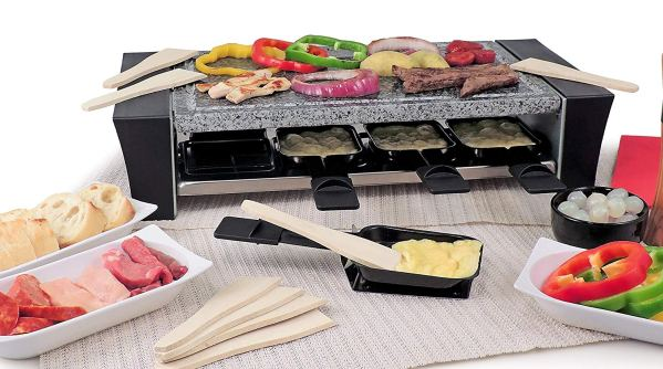 Swissmar KF-77088 Ticino 8- Person Raclette with Granite Stone Top, Black2