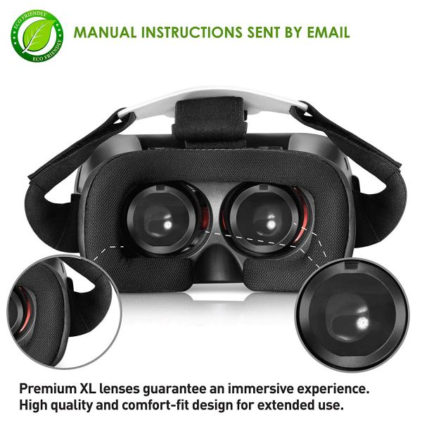 VR Headset for iPhone & Android Phones Virtual Reality Goggles 2
