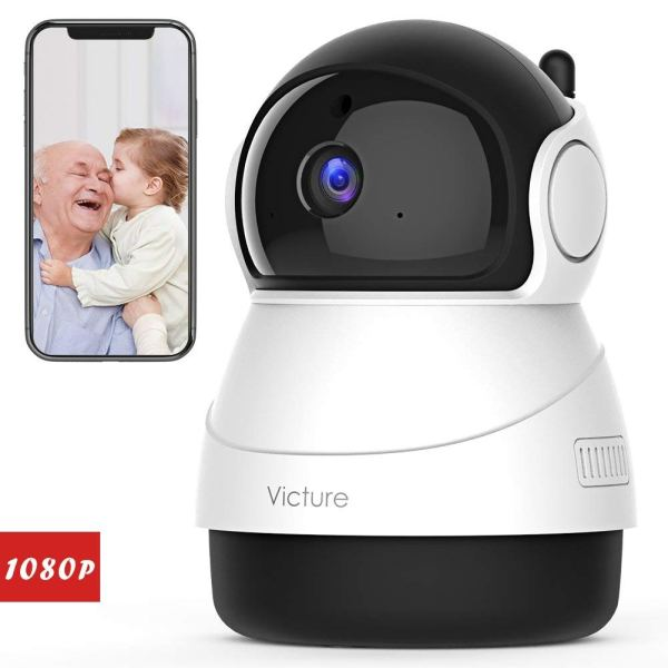 Victure 1080P FHD WiFi IP Camera Indoor Wireless Security Camera with Motion Detection Night Vision Home Surveillance