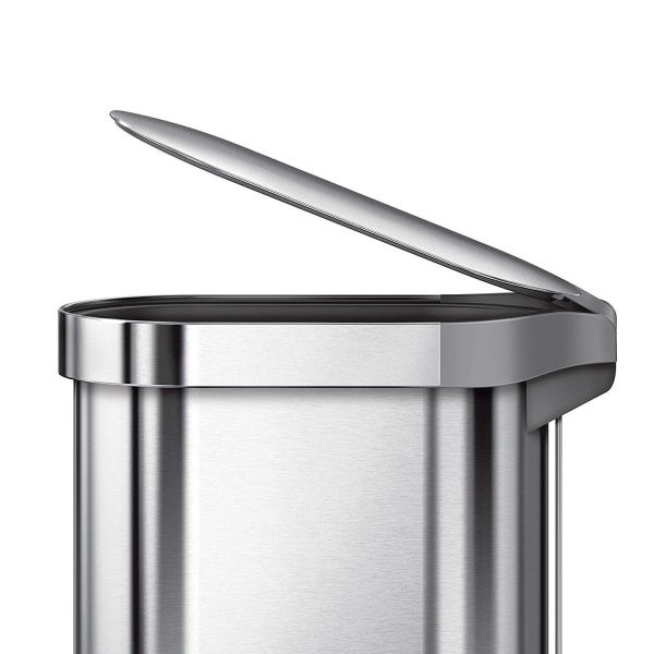 simplehuman Slim Step Can Brushed Stainless Steel, 45 3